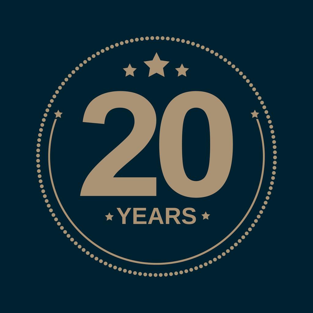 anniversary, holiday, 20 years